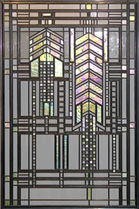 Frank Lloyd Wright Stained Art Glass Windows